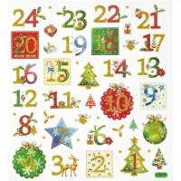 Design Sticker Weihnachten Adventszahlen