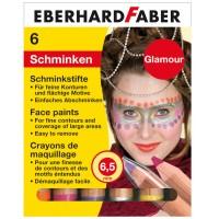 Schminkstifte Glamour mit 6 Farben, 9cm lang, Mine 6,5 mm