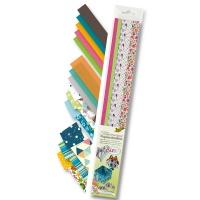 Papierstreifen Sommer 168 Streifen, 50 cm lang