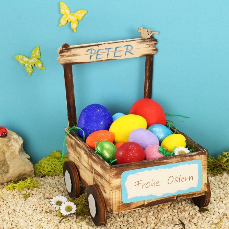 Osternest basteln mit Kindern