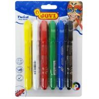 Schminkstifte in 6 Farben, herausdrehbar und auswaschbar