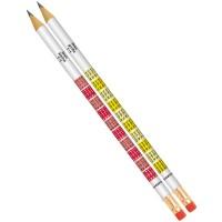 Bleistift 1x1 mit Radierer, Härte B, 12 Stück
