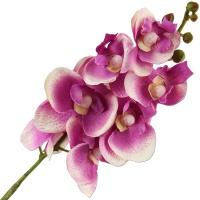 Orchidee flieder lavendel weiss Kunstblume 35 cm lang 1 Stück Seidenblume